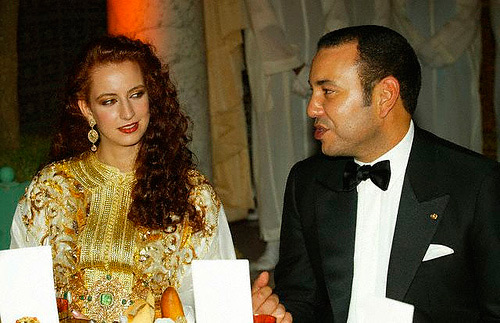 Morocco's King Mohammed VI and Princess Lalla Salma
