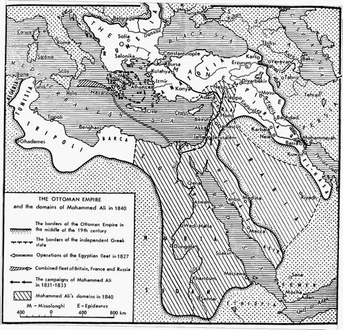تاريخ محمدعلي باشا وفتوحات الجيش المصري Ottoman-empire-1840